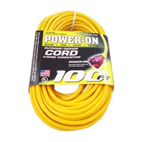 US Wire 74100 12/3 100-Feet SJTW Yellow Heavy-Duty Lighted ...